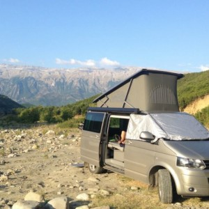 wild camping in Albania