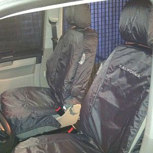 Inka's embroidered & waterproof gray seat covers