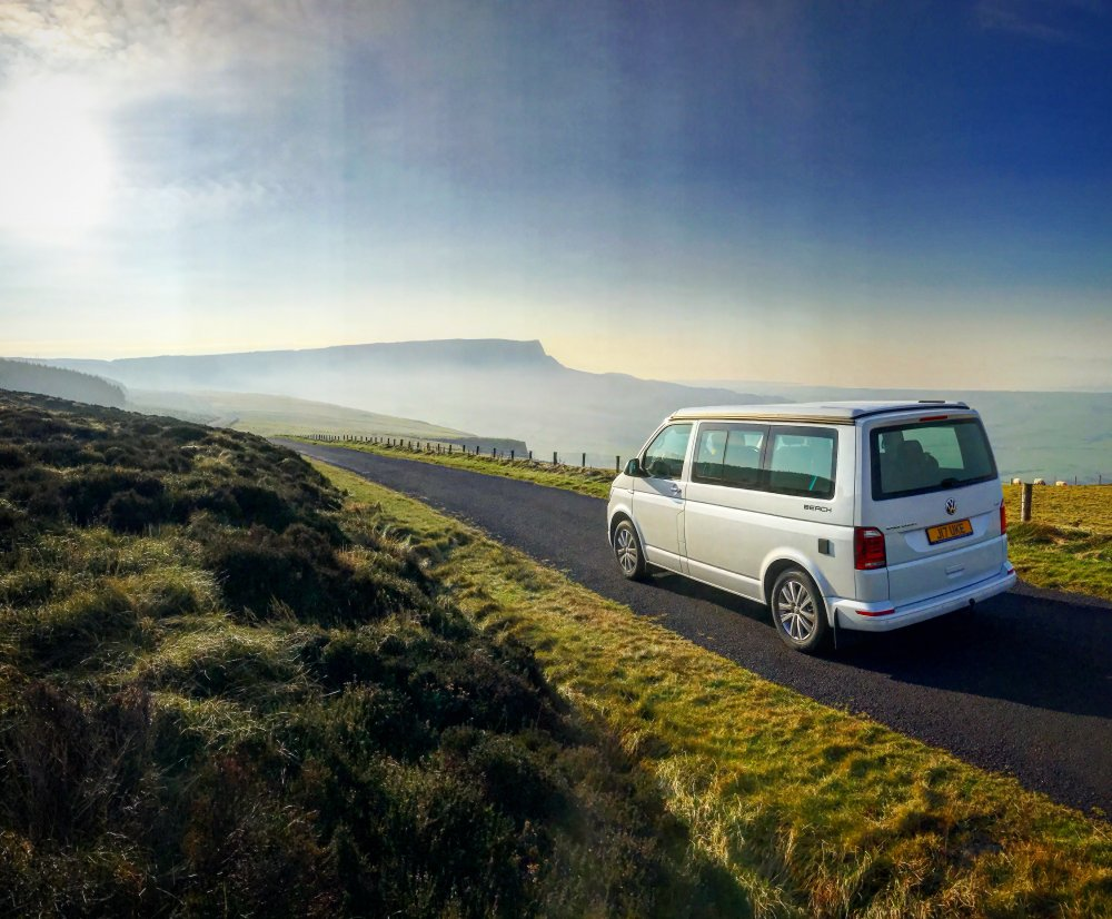 Driving over Binevenagh