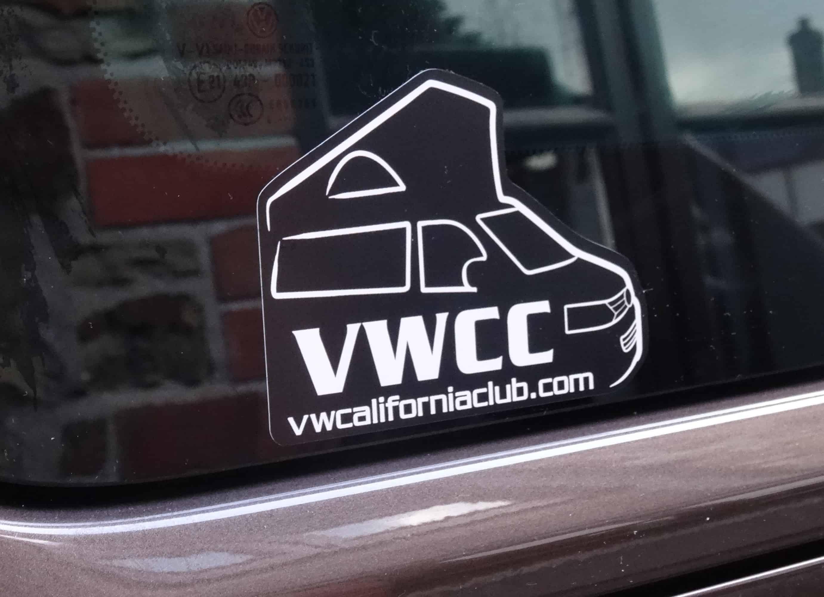 Car club sticker designs - Home Merchandise Stickers Vw California Club Official Silhouette Logo Car Sticker Small Subtle Size