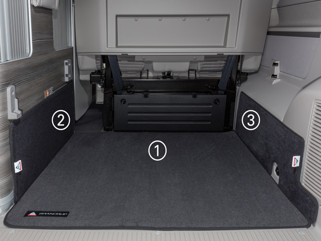 brandrup carpet for boot area vw t6 t5 california ocean se titanium black everything vw. Black Bedroom Furniture Sets. Home Design Ideas