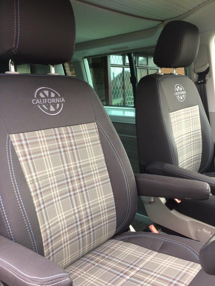 VW TRANSPORTER T6 CALIFORNIA OCEAN 2ND ROW SINGLE WATERPROOF BLACK SEAT COVER