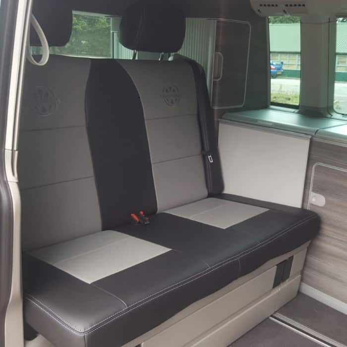 Premium Leather Look Seat Covers For Vw California Black