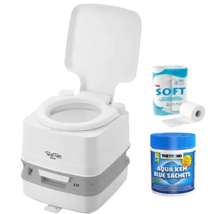 Thetford Porta Potti 335 Qube Toilet Bundle Package