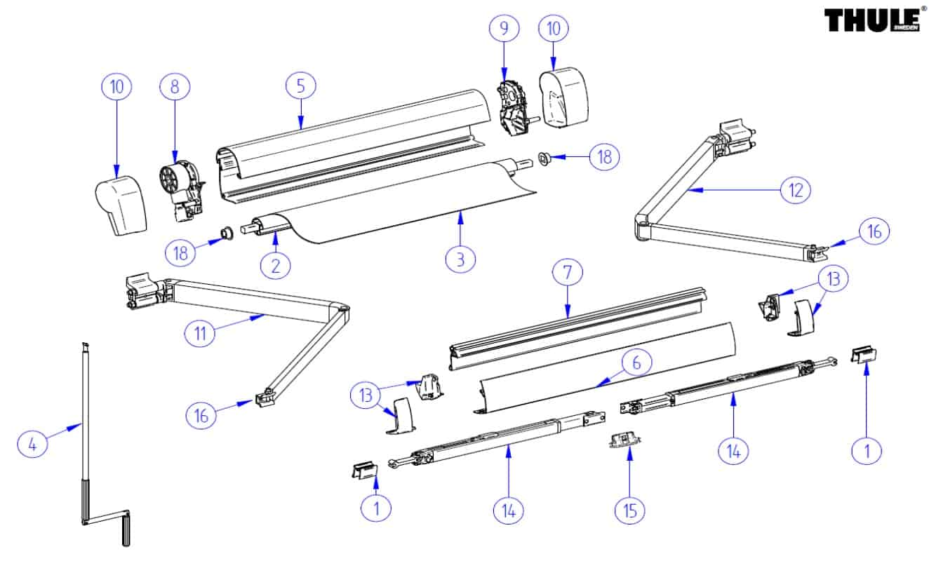 VW California Wind Out Awning Parts - Everything VW California